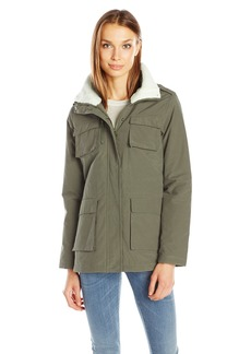 Madden Girl Women's Wax Cotton Utility Jacket  L