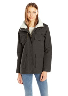 Madden Girl Women's Wax Cotton Utility Jacket  XL