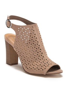 Madden Girl Perforated Bloom Heeled Sandal