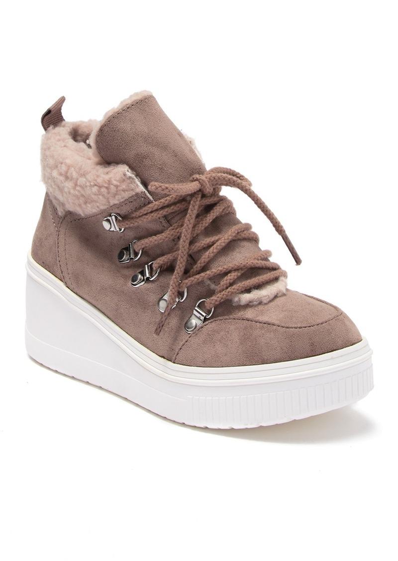Madden Girl Teerra Faux Fur Lined Wedge Sneaker