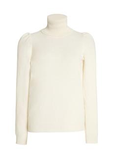 Madeleine Thompson - Women's Cashmere Turtleneck Sweater - White - Moda Operandi
