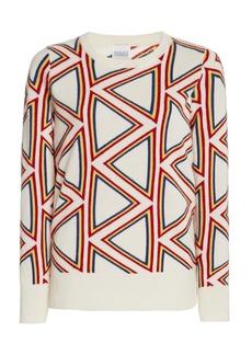 Madeleine Thompson - Women's Triangle Jacquard-Knit Cashmere Sweater - White - Moda Operandi