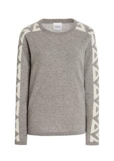 Madeleine Thompson - Women's Triangle-Trimmed Cashmere Sweater - Grey - Moda Operandi