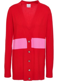 Madeleine Thompson Woman Christopher Striped Wool And Cashmere-blend Cardigan Red