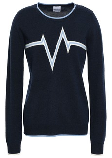 Madeleine Thompson Woman Harlem Intarsia Wool And Cashmere-blend Sweater Midnight Blue