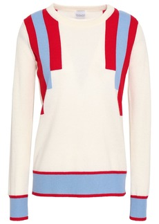 Madeleine Thompson Woman Striped Wool And Cashmere-blend Sweater Off-white