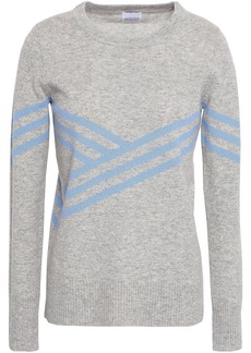 Madeleine Thompson Woman Striped Wool And Cashmere-blend Sweater Stone