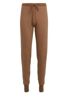 Madeleine Thompson Stone Rib Knit Wool-Cashmere Joggers