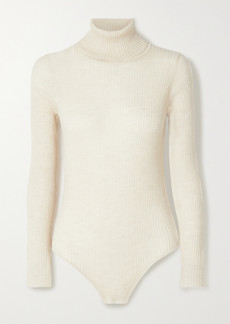 Madeleine Thompson Susan Ribbed Cashmere Turtleneck Bodysuit