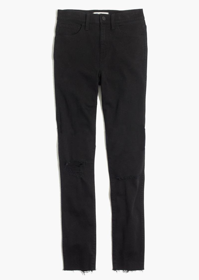 "Madewell 10"" High-Rise Skinny Jeans in Black Sea"
