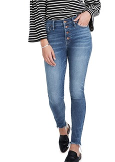 Madewell 10 High-Rise Skinny Jeans with Button Front