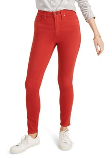 Madewell 10-Inch Garment Dyed High Waist Skinny Jeans (Bright Ember)
