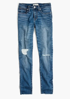 "9"" High-Rise Skinny Crop Jeans in Bruce Wash"