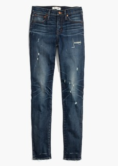 "9"" High-Rise Skinny Jeans: Distressed Edition"