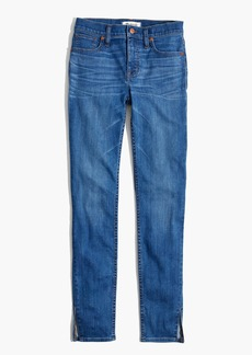 "9"" High-Rise Skinny Jeans in Bonita Wash: Side-Slit Edition"
