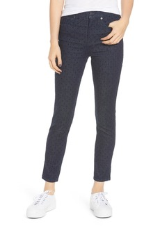 Madewell 9-Inch High Waist Ankle Skinny Jeans (Flocked Dots)