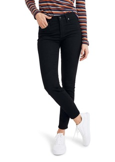 Madewell 9-Inch High Waist Thermolite(R) Skinny Jeans (Black Frost) (Regular & Plus Size)