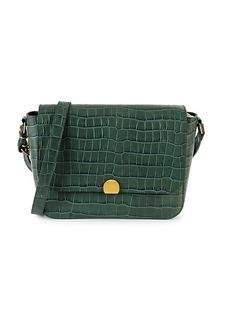 Madewell Abroad Croc-Embossed Leather Shoulder Bag