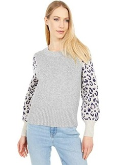 Madewell Animal Color-Block Pullover Sweater