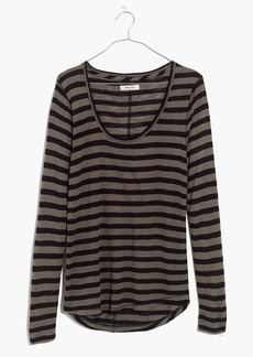 Anthem Scoop Long-Sleeve Tee in Cloverdale Stripe