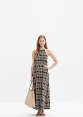 Madewell aruba cover-up maxi dress in woodcut diamond