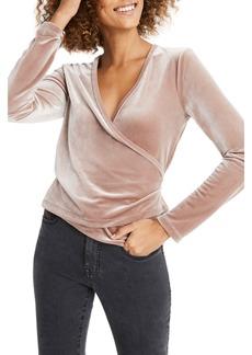 Madewell Ballet Velvet Wrap Top (Regular & Plus Size)