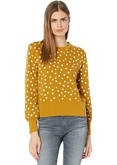 Madewell Bastille Sweatshirt in Polka Dot