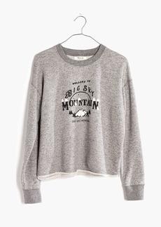 Madewell Big Sky Cutoff Sweatshirt