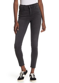 Madewell Washed Black 9-inch High Rise Skinny Jeans