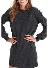 Madewell Boatneck Button Shoulder Wool Sweater Dress (Regular & Plus Size)