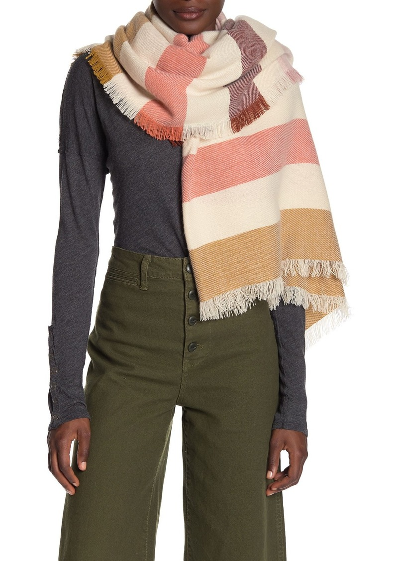 Madewell Bold Stripe Blanket Square Scarf