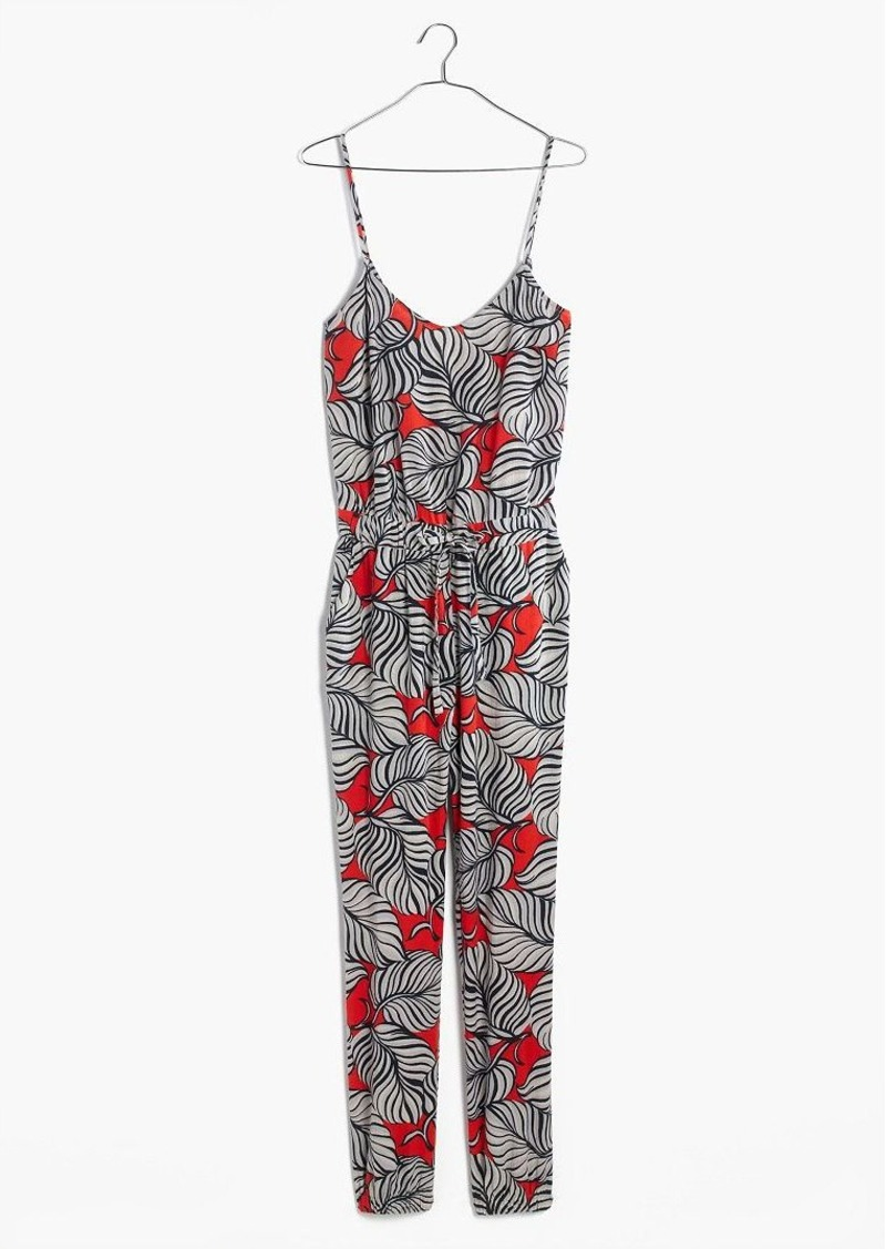 Madewell bondi cover-up jumpsuit in vintage palm