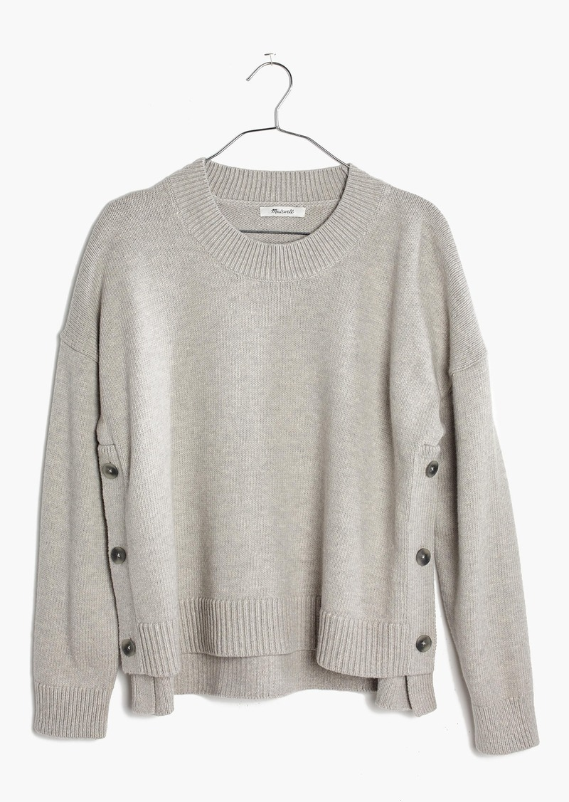 bb6cf76521e Madewell Brownstone Side-Button Sweater
