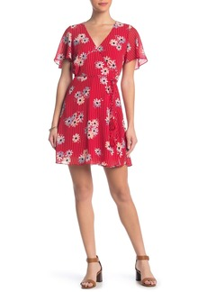 Madewell Butterfly Sleeve Floral Stripe Dress