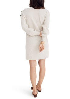 Madewell BUTTON BOAT NECK SWEATERDRESS