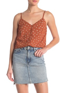 Madewell Button-Down Polka Dot Printed Cami