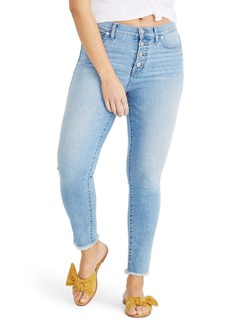 Madewell Button Front High Rise Crop Skinny Jeans