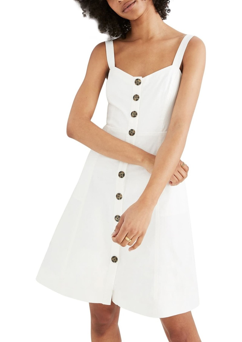 Madewell Button Front Tank Dress