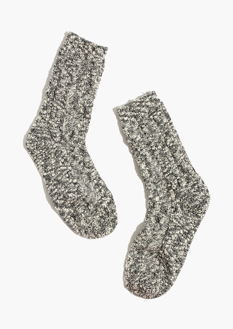 Madewell Cableknit Trouser Socks