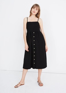 Madewell Cami Button Front Midi Dress