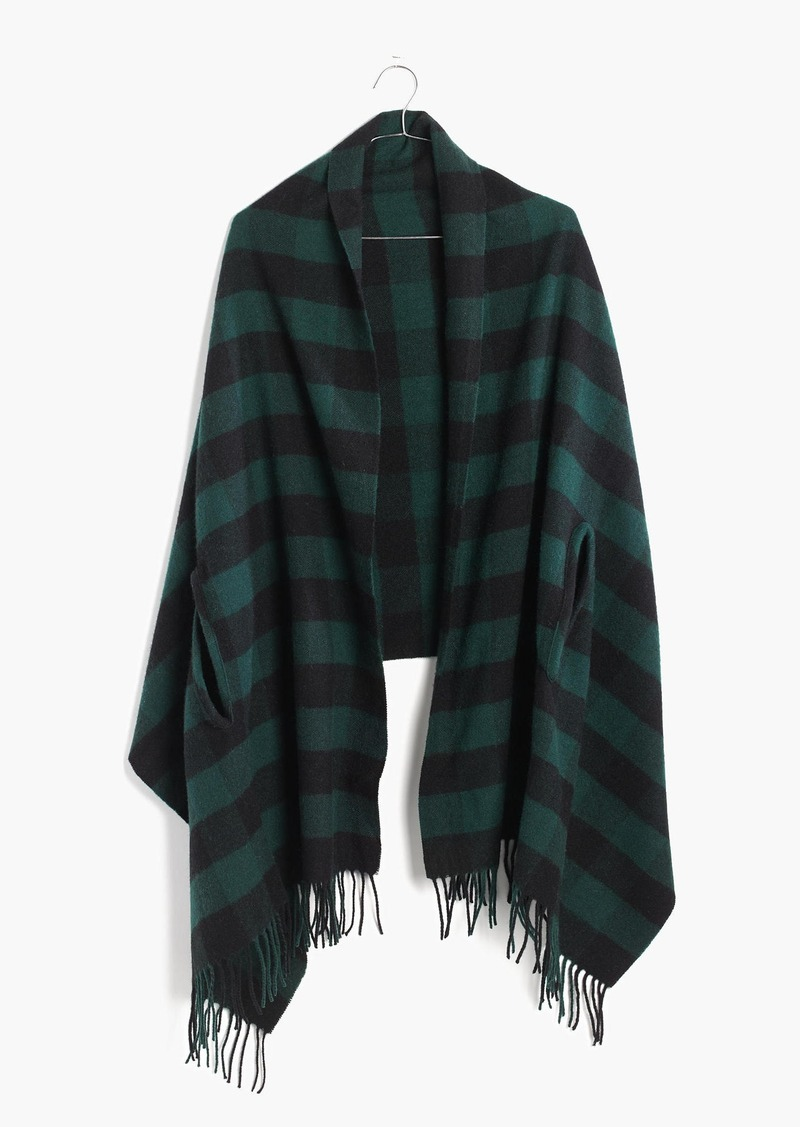 Madewell Cape Scarf in Buffalo Check