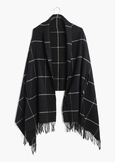 Madewell Cape Scarf in Windowpane