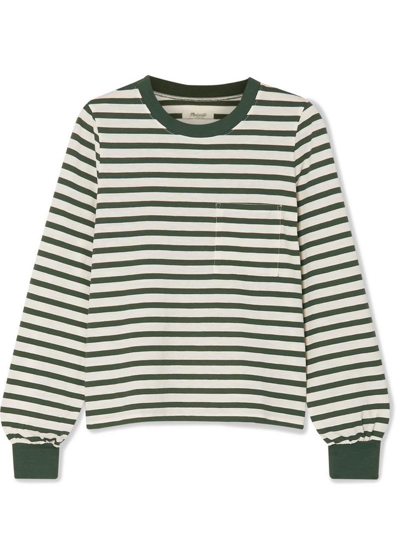 Madewell Caressa Striped Cotton-blend Jersey Top