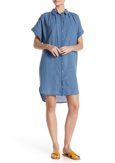 Madewell Central Button Down Linen Blend Shirtdress