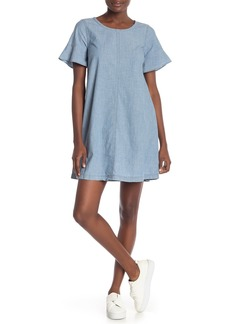 Madewell Chambray Bow Back Dress