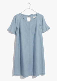 Chambray Tie-Back Dress