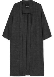 Madewell Checked linen-blend kimono