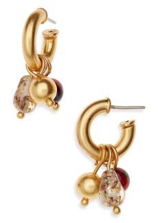 Madewell Chunky Charms Mini 19mm Hoop Earrings