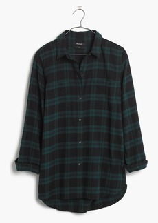 Madewell Classic Ex-Boyfriend Shirt in Dark Plaid