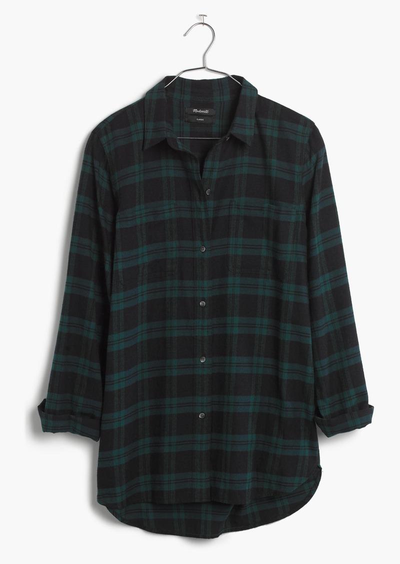 Madewell Classic Ex-Boyfriend Shirt in Dark Plaid